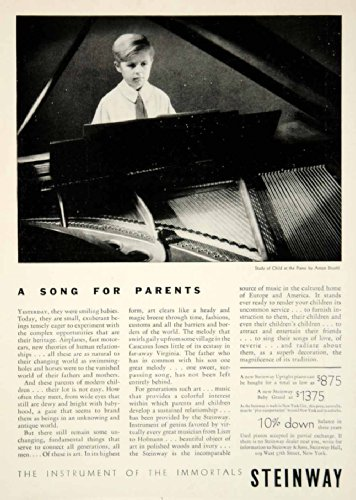 1931 Ad Steinway & Sons Piano Musical Instrument Children 109 W 57th St NYC Kid - Original Print Ad