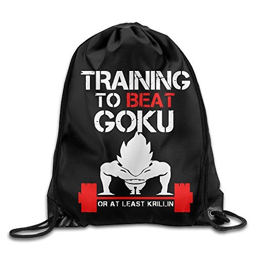 Bekey TRAINING TO BEAT GOKU OR AT LEAST KRILLIN GYM Drawstring Backpack Sport Bag For Men & Women For Home Travel Storage Use Gym Traveling Shopping Sport Yoga - Usa Destiny Shopping