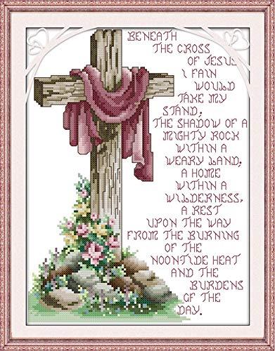 Amazon.com: Ochoos - Kit de punto de cruz de lona de Jesús ...