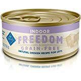 BLUE Freedom Adult Pate Indoor Chicken Wet Cat Food 5.5-oz (Pack of 24)