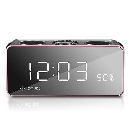 Xiao Jian- Altavoz Bluetooth - Subwoofer con sobrepeso Inalámbrico Mini computadora portátil Pequeño Altavoz Reloj Despertador para Uso en Exteriores ...