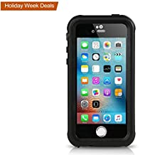 iPhone SE Waterproof Case, Meritcase IP68 Standard Protection Dirt-poof Shockproof Snow-proof and Waterproof Case for iPhone SE/5/5s (Black)