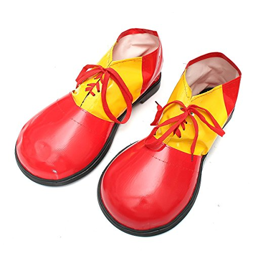 Katoot@ Adult 1 Pair Halloween Clown Shoes Boots Dress Decoration Shoes Accessories Unisex Comedy Fancy Costume Party Events Supplies