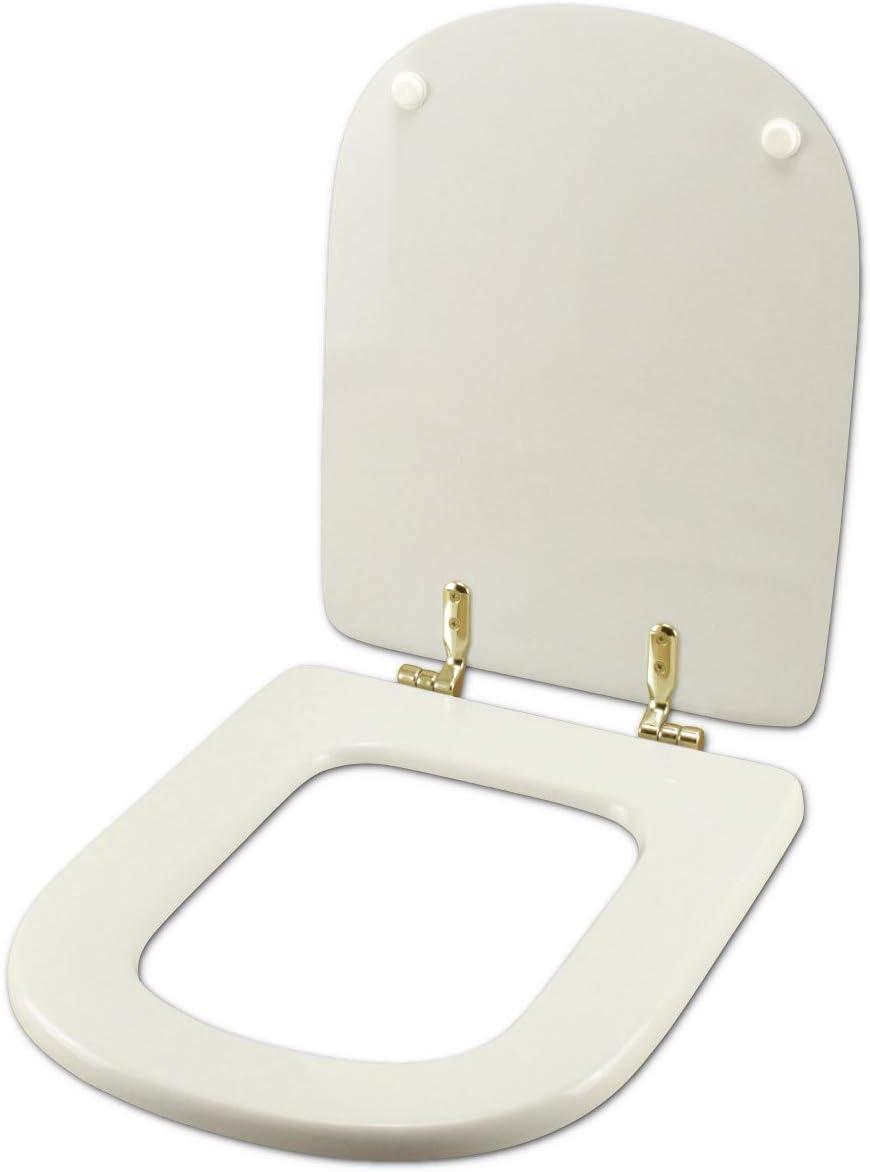 Sedile Wc Ideal Standard Calla.Copriwater Ideal Standard Calla Bianco I S Cerniera Oro Sedile Asse Wc Amazon It Fai Da Te