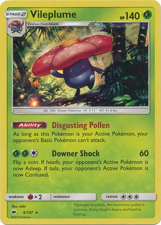 Vileplume - 6/147 - Holo Rare - Sun & Moon: Burning Shadows
