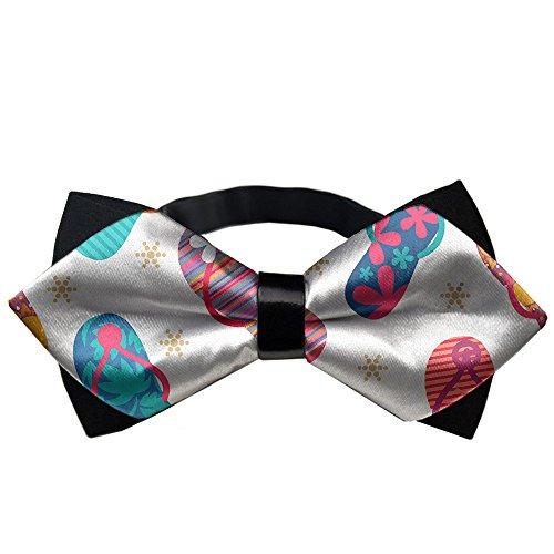 YEAHSPACE Mens silk Bowtie Gift Flip Flops Slippers Bow Ties (Tie Silk Brooks Brothers)