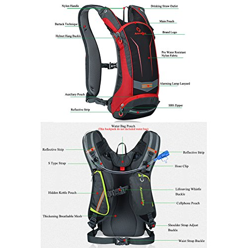 f07118bbdf41 ANMEILU 8L Hydration Pack Backpack + 2L TPU Water Bladder Bag