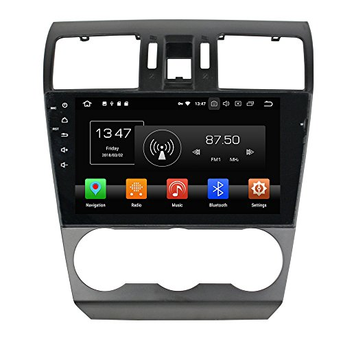KUNFINE 9 Inch Octa Core Android 8 Car DVD GPS Navigation Car Stereo Multimedia Player Radio Headunit for SUBARU Forester 2013 2014 2015 Supports WiFi