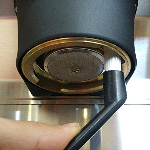 Diossad 2 pièces Café Ensemble de brosse Nylon Espresso Machine à café Groupe tête outil de nettoyage