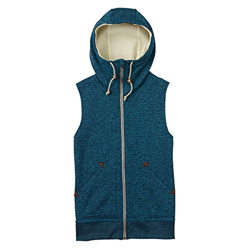 Burton Women's Starr Vest Sweater Fleece Size Large Jaded Heather