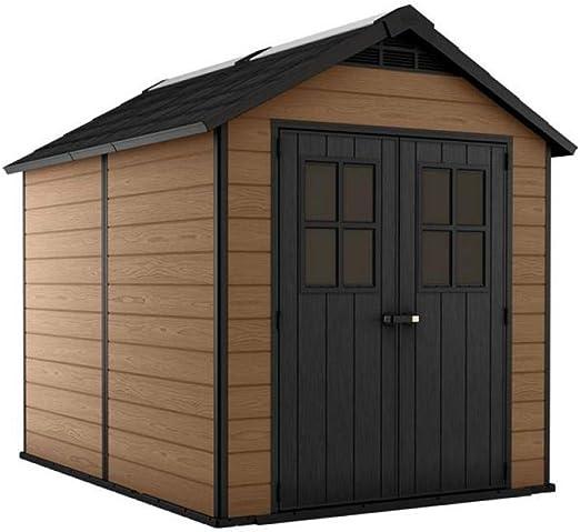 Keter 243410 - Caseta de jardín exterior Newton 759, color marrón ...
