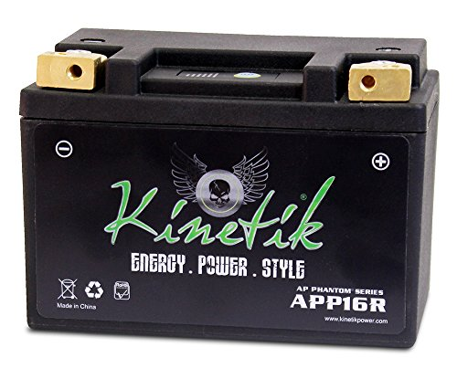LiFePO4 12V 16-18Ah Battery for Kawasaki JT1500B,C,250X,Ultra LX 2007-09 by Kinetik