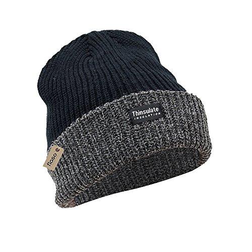 40g Gorro Negro 3M Invierno Mujer de Gris Unisex para Montaña la Nieve Hombre grueso invierno FLOSO térmico ZxRqdn16wZ