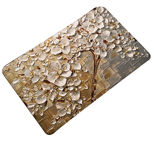 Multi-size Oil Painting Floral Area Door Mat Floor Rug Runner Flannel AntislipLivebyCare Doormat Entry Carpet Decor Front Entrance Indoor Outdoor Matsfor Rest Room Presence (Presence Chamber)