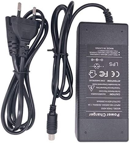 SHM-F 42V 1.5A Chargeur de Batterie pour Scooter électrique Xiaomi mijia m365, Ninebot Mijia M365 Trottinette électrique Adaptateur d'alimentation utilisé pour Charger 36V Lithium ION Battery Pack