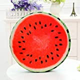 Round Fruit Wood Shape Seat Cushion Memory Foam Butt Shaping Cushion Funny Soft Filling Health Care Sofa Cushion 38x7cm