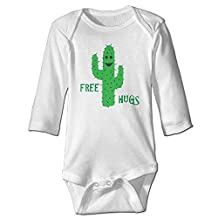 Free Hugs Cactus Toddler Baby Onesies Newborn Clothes Long Sleeves