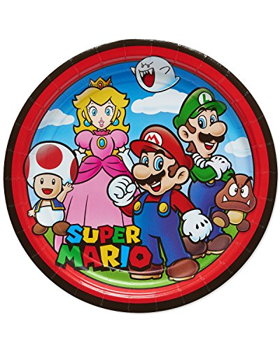 Cheapest Price! American Greetings Super Mario Paper Dinner Plates,  8-Count