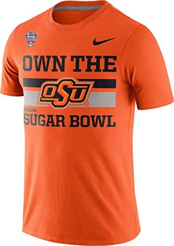 Nike Oklahoma State Cowboys OSU Bound Stripe Own the Sugar Bowl T-Shirt (Orange, XL)