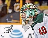 "Devan Dubnyk Minnesota Wild Autographed 8"" x 10"" Mask Shot Photograph - Fanatics Authentic Certified"