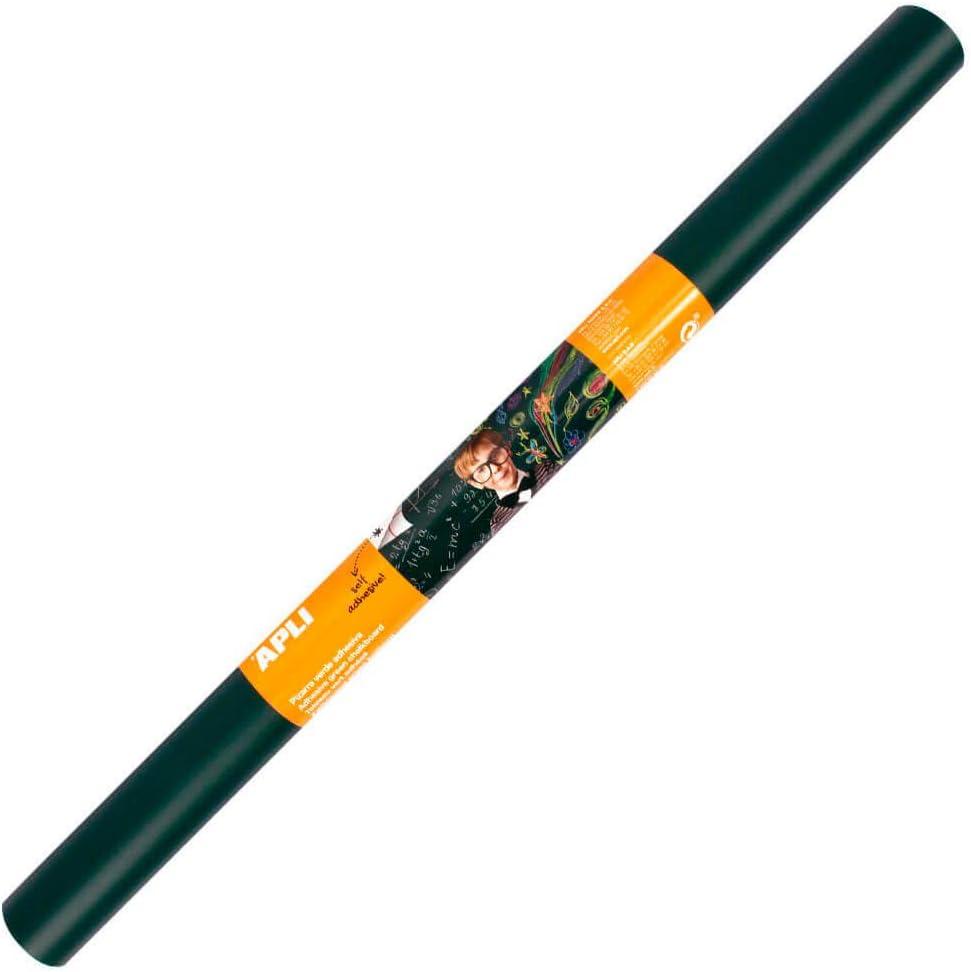 APLI 10962-Pizarra verde adhesiva en rollo 0,45 x 2 m