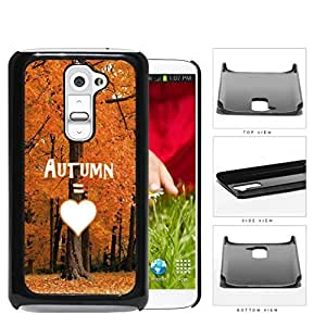 Autumn Equals Love With Beautiful Orange Tree Forest LG G2 Hard Snap on Plastic Cell Phone Cover