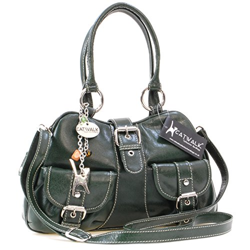 CATWALK Bolso de COLLECTION Cuero Verde FAITH mano qFBZ7A