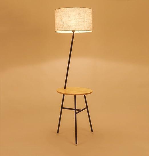 ZHDC® Lámpara de pie japonesa, sala de estar nórdica del registro ...