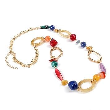 b02583f6e2de Fanuosu Conjuntos de Collar y aretes de bisutería 14 K Chapado en Oro Cadena  de eslabones