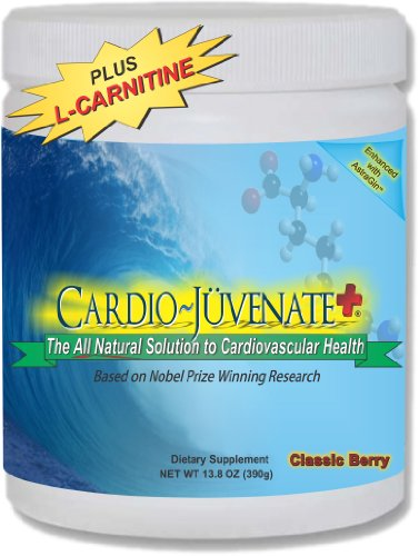 Cardio ~ Juvénat + Cardio Fitness Formule: Supplément d'oxyde nitrique avec 5000mg de L-arginine, 1000mg L-citrulline, 1000mg L-carnitine, 2500IU vitamine D3 par portion pour améliorer naturellement la santé cardiovasculaire, la circulation sanguine et la