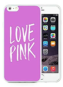 Iphone 6 Plus Cases Custom Victoria's Secret Love Pink 34 Cell Phone Tpu Cover Case for Iphone 6 Plus 5.5 Inch White