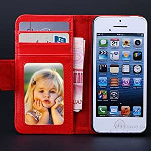 ModernGut Hot Selling 1pcs Photo Frame Leather Case For iphone 5 5S Wallet Leather Case Pouch with Card Holder Stand Flip Cover AC827