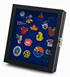 Hobbymaster Pin Collector's Compact Display Case for Disney, Hard Rock, Olympic, Political Campaign & Other Collectible pins, Holds 20-50 pins (Blue)