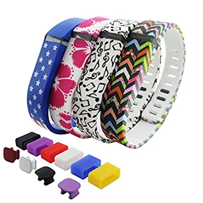 2015 Latest Band Set For Fitbit Flex,Water Transfer Printing Set With Metal Clasps for Fitbit Flex Activity Tracker/ Wireless Activity+Sleep Wristband/ Sport Bracelet/ Sport Armband(Small)