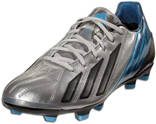 Mecánica dosis Tener un picnic  Adidas F30 TRX FG Leather - (Metallic Silver/Blue/Black) (8.5): Amazon.ca:  Shoes & Handbags