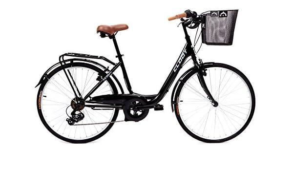 CLOOT Bicicletas de Paseo Relax Negra-Bici Paseo con Cambio Shimano 6V: Amazon.es: Deportes y aire libre