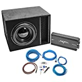 Skar Audio Single 12' Complete 2,500 Watt EVL Series Subwoofer Bass Package - Includes Loaded Enclosure with Amplifier