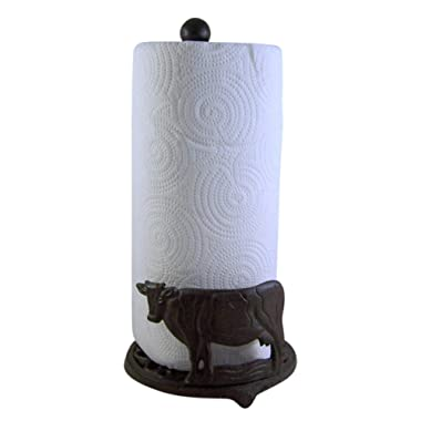 Cast Iron Cow Paper Towel Holder 13 Inch