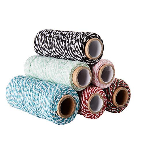 Bakers Twine - 6-Pack Twine Cord, Cotton Cording,