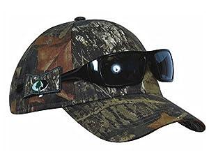 KC Caps Men's Adjustable Camo Hunting Hat with Non-slip Side Sunglasses Holder