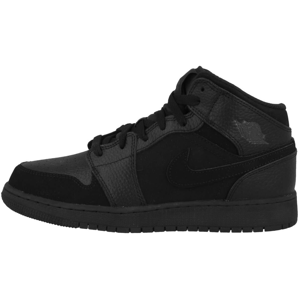 Mehrfarbig (schwarz Dk Smoke grau schwarz 064) Nike Herren Air Jordan 1 Mid (Gs) Fitnessschuhe, schwarz, Dark Concord-Weiß