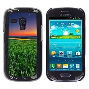 "Pulsar Snap-on Series Teléfono Carcasa Funda Case Caso para Samsung Galaxy S3 MINI ( NOT for regular S3 , Green Nature Summer Evening Sunset"""