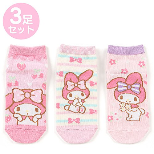 Sanrio My Melody Kids sneaker socks 3 feet set 16-18cm From Japan New