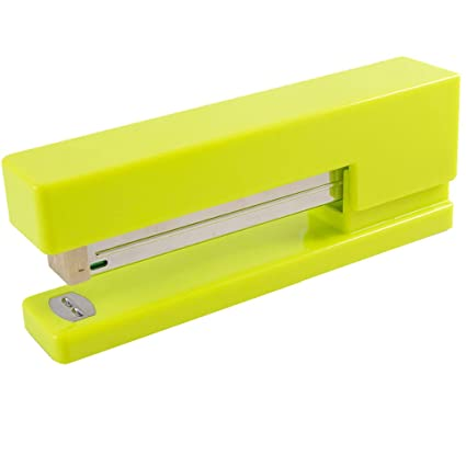 Charmant Amazon.com : JAM PAPER Modern Desk Stapler   Lime Green   Sold Individually  : Office Products