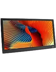 Gaowi 20 inch TFT-scherm HD LED-achtergrondverlichting 1024 * 768 digitale fotolijst elektronische album foto muziek ultradunne breedbeeld volledig formaat, zwart