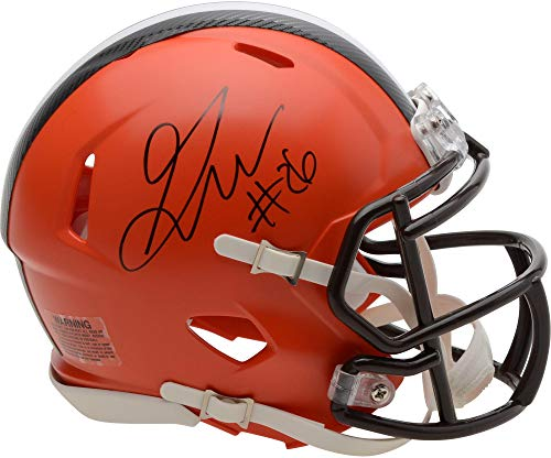 Greedy Williams Cleveland Browns Autographed Riddell Speed Mini Helmet - Fanatics Authentic Certified ()