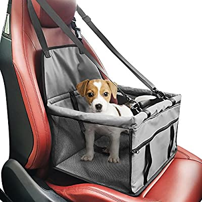 Pet Car Booster Seat Carrier,Portable Foldable Pet Car Seat Cover Carrier with Seat Belt for Dog Cat Puppy Kitty up to 25lbs