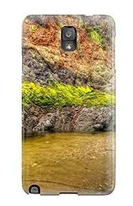 Cute Appearance Cover/tpu WqESzeJ8674jMBrs Shorline Earth Water Rock Pool Sand Tide Nature Rock Case For Galaxy Note 3