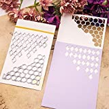 Honeycomb Metal Cutting Dies for Card Making, NOMSOCR Cut Die Metal Stencil Template Mould for DIY Scrapbook Embossing Album Paper Card Craft Birthday Festival Decoration (Honeycomb)