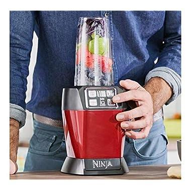 Nutri Ninja Auto-IQ Blender, 1000W, 1 Jar (Red) 10